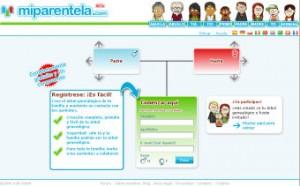 Página de inicio de www.miparentela.com
