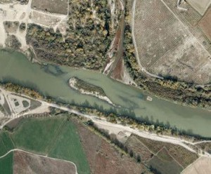 Google Maps - Desembocadura del río Gállego