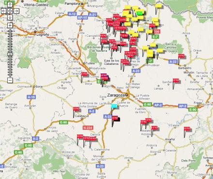 Distribución de censos volcados en AragónGen