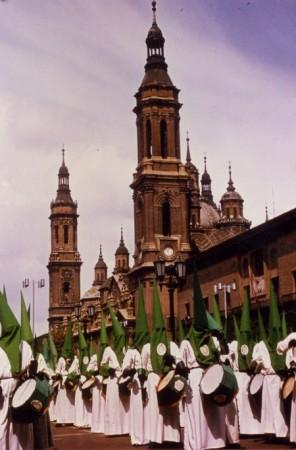Cofradía de las Siete Palabras de Zaragoza en el Pilar